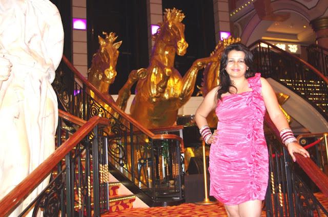 pink dress for dinner