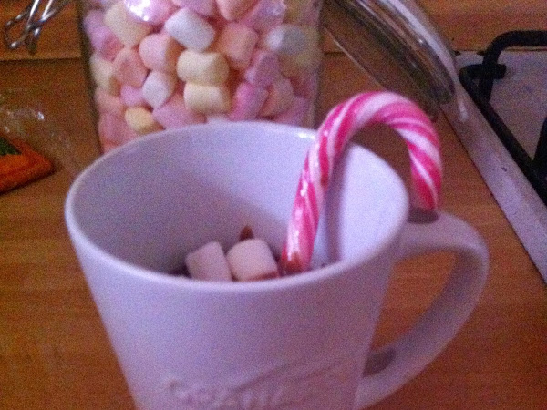 PEPPERMINT HOT CHOCOLATE ( day #21)