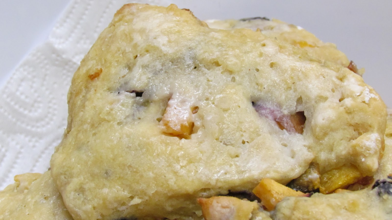 ... Sustenance: Peach Ginger Scones with Dried Cherries - Welcoming Guests