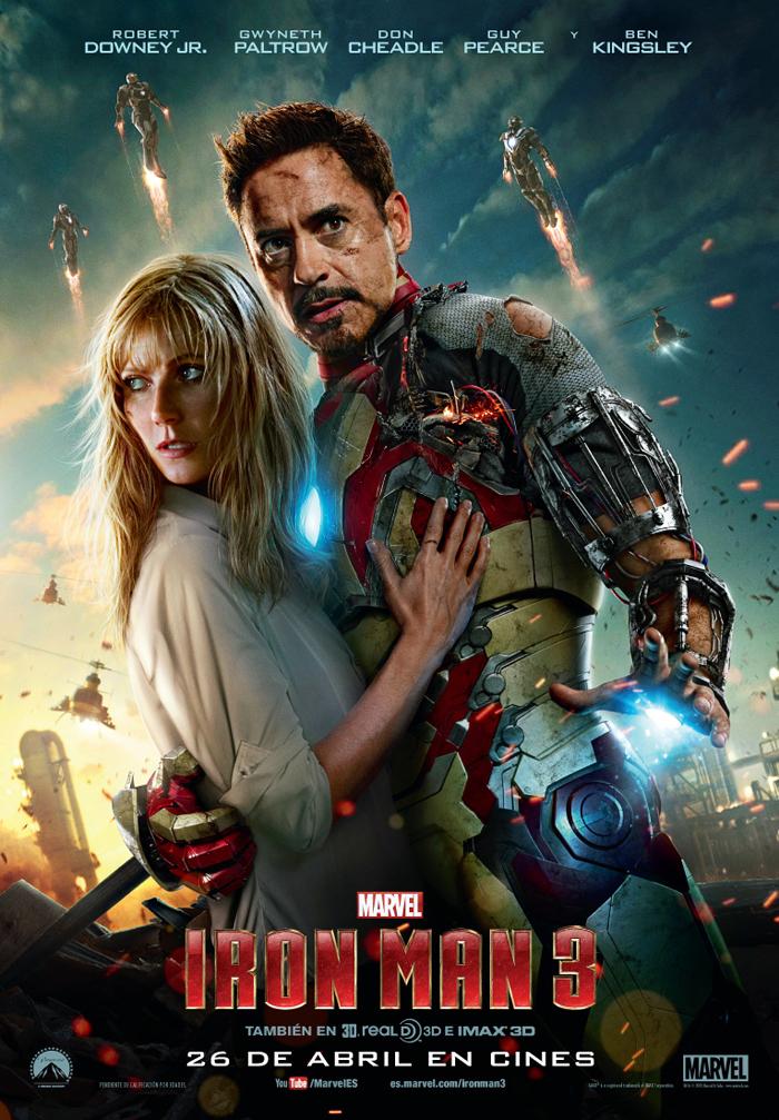 Pepper y Tony Stark en el nuevo póster de Iron Man 3