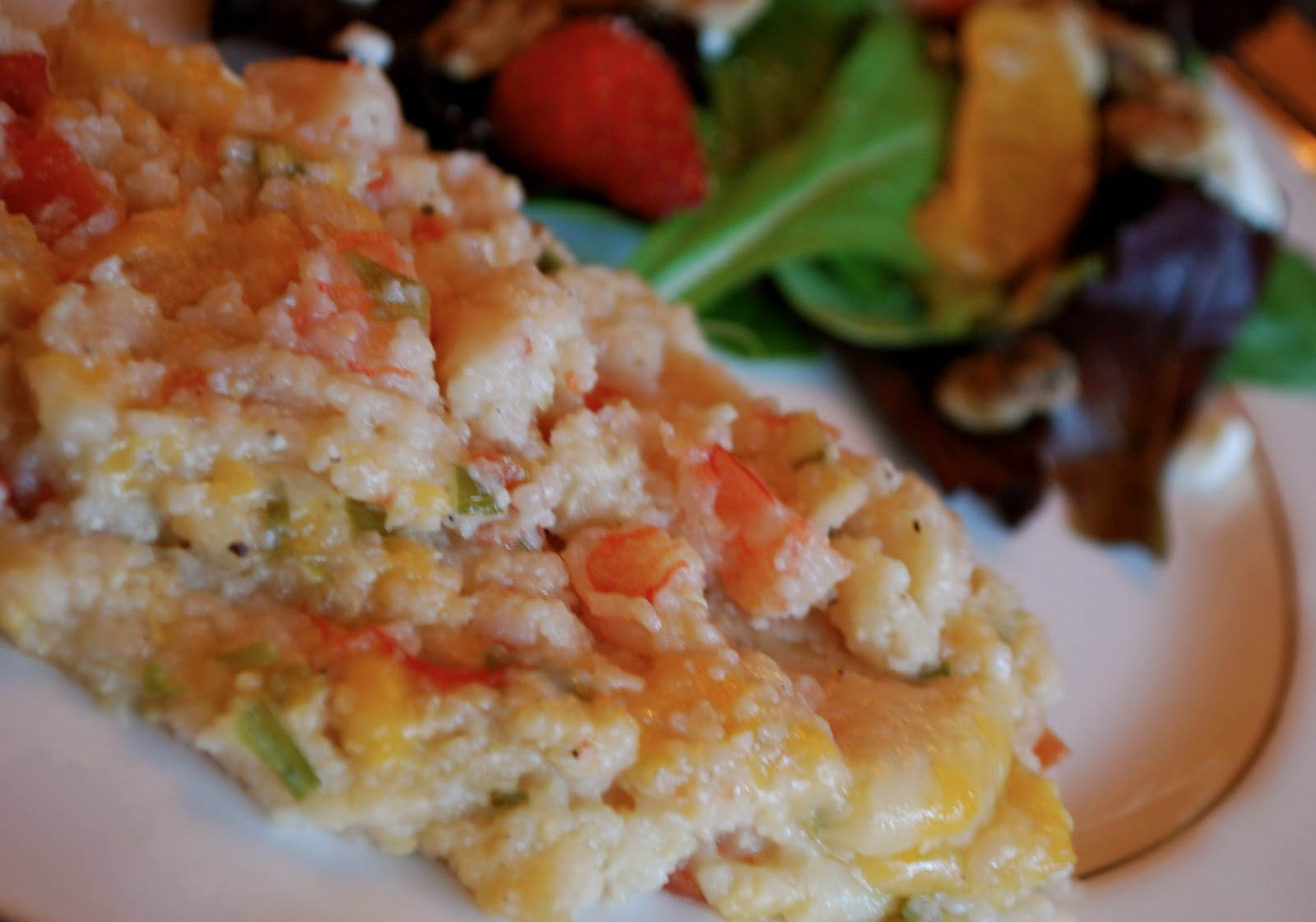 Shrimp and Grits Casserole - Amanda Jane Brown