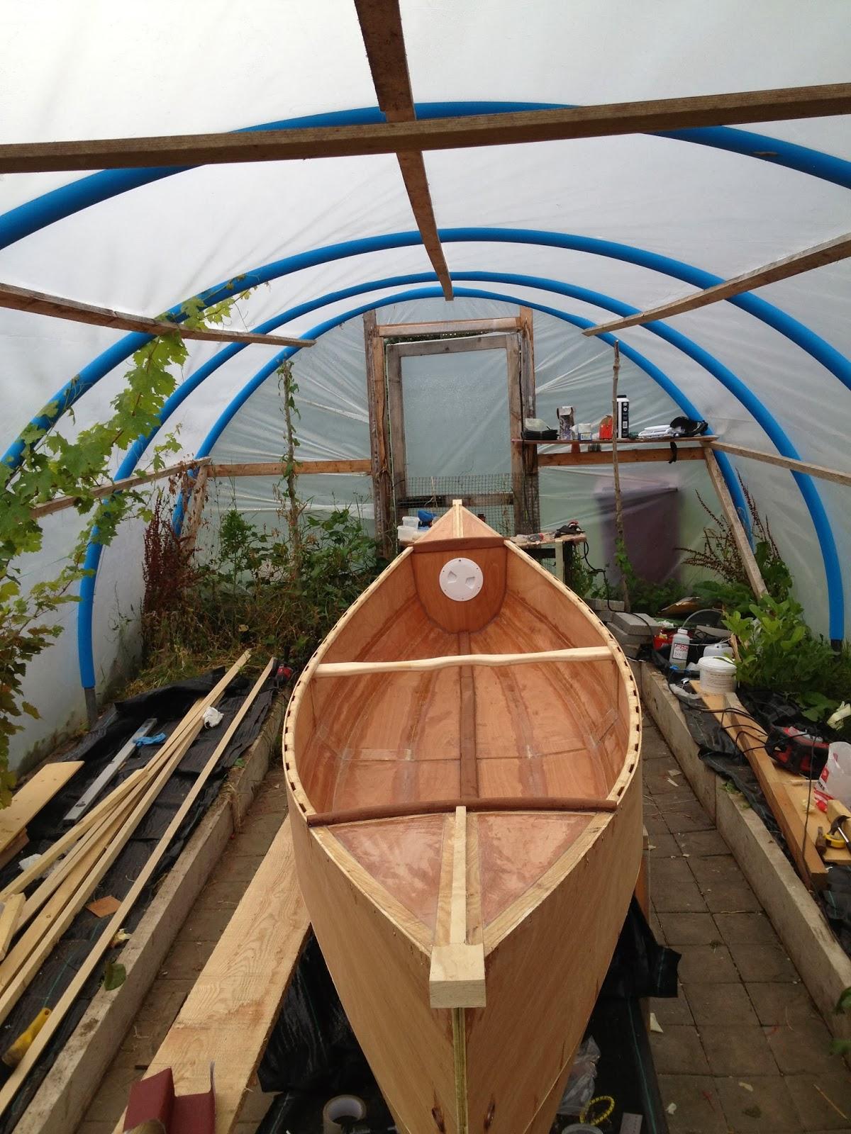 Waterman 16 canoe build stage 3 decking for Waterman 16