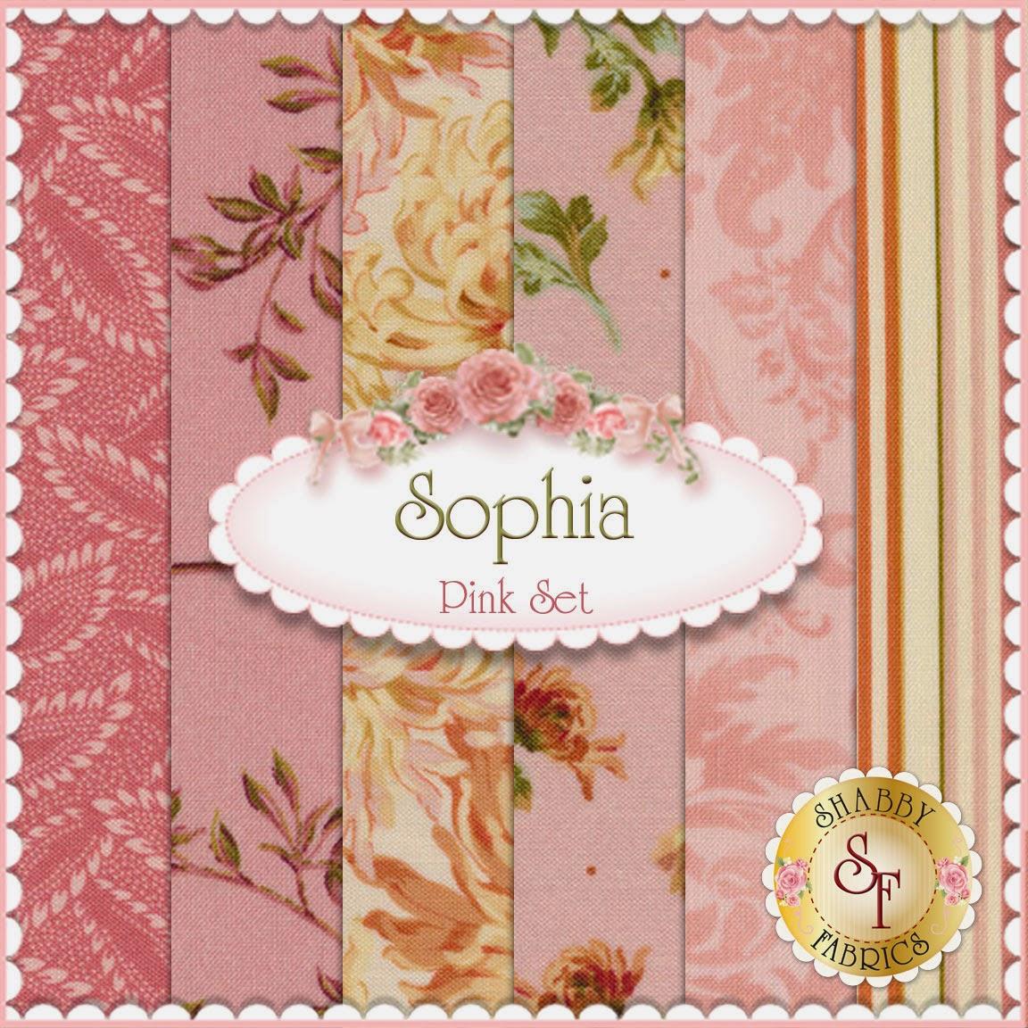 Sophia 6 FQ Set | Pink | Shabby Fabrics