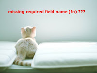 Warning: Missing required field name (fn) pada vcard