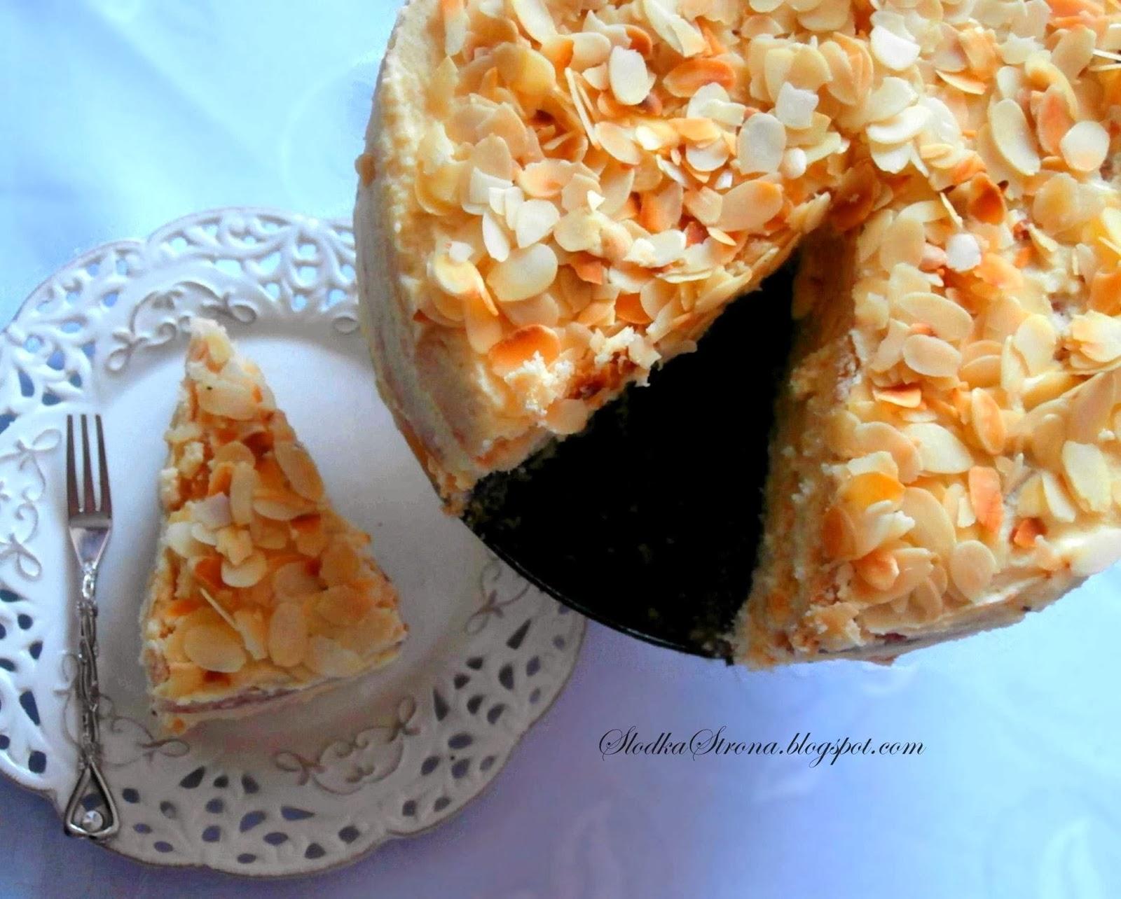 Tort makowo-ajerkoniakowy Słodka Strona