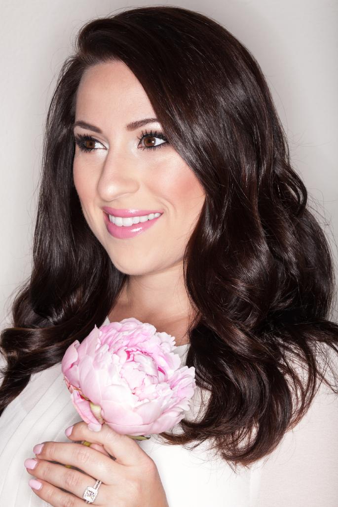 romantic makeup ideas, mac lovelorn, ysl desin du regard eyeliner, pink peonies