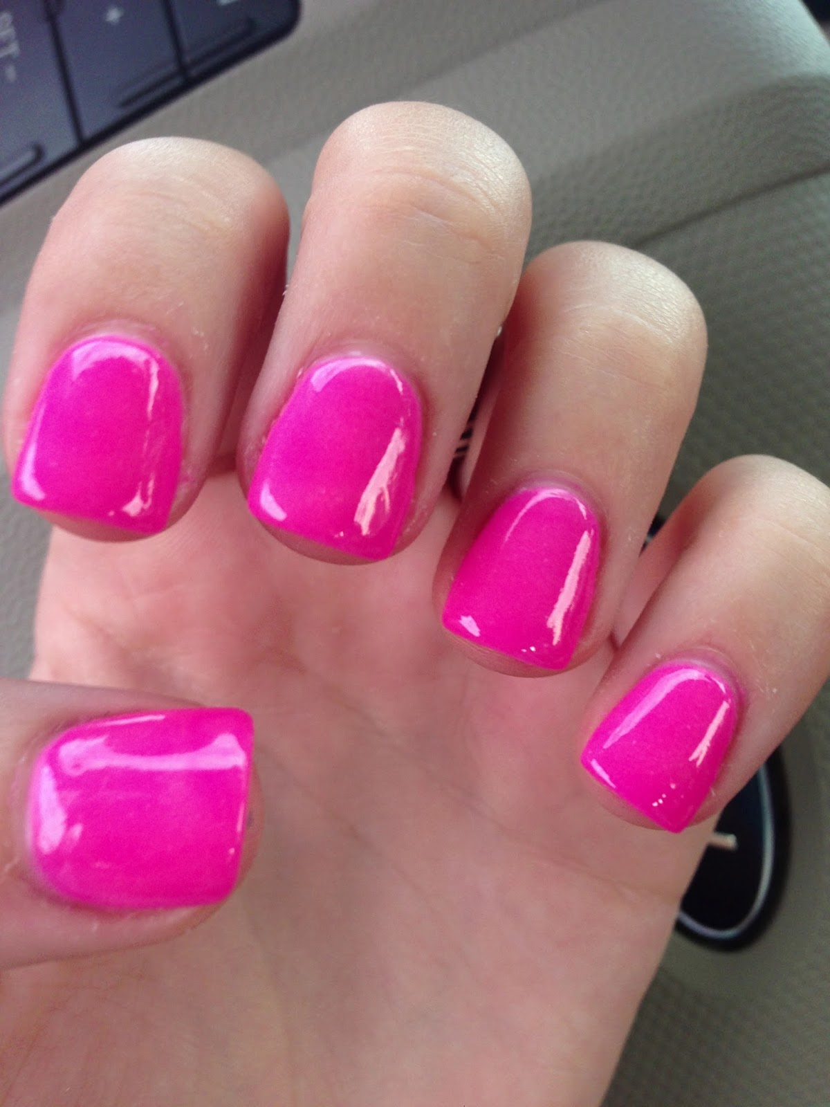nail dip it is incredible these are my nails with a hot pink color