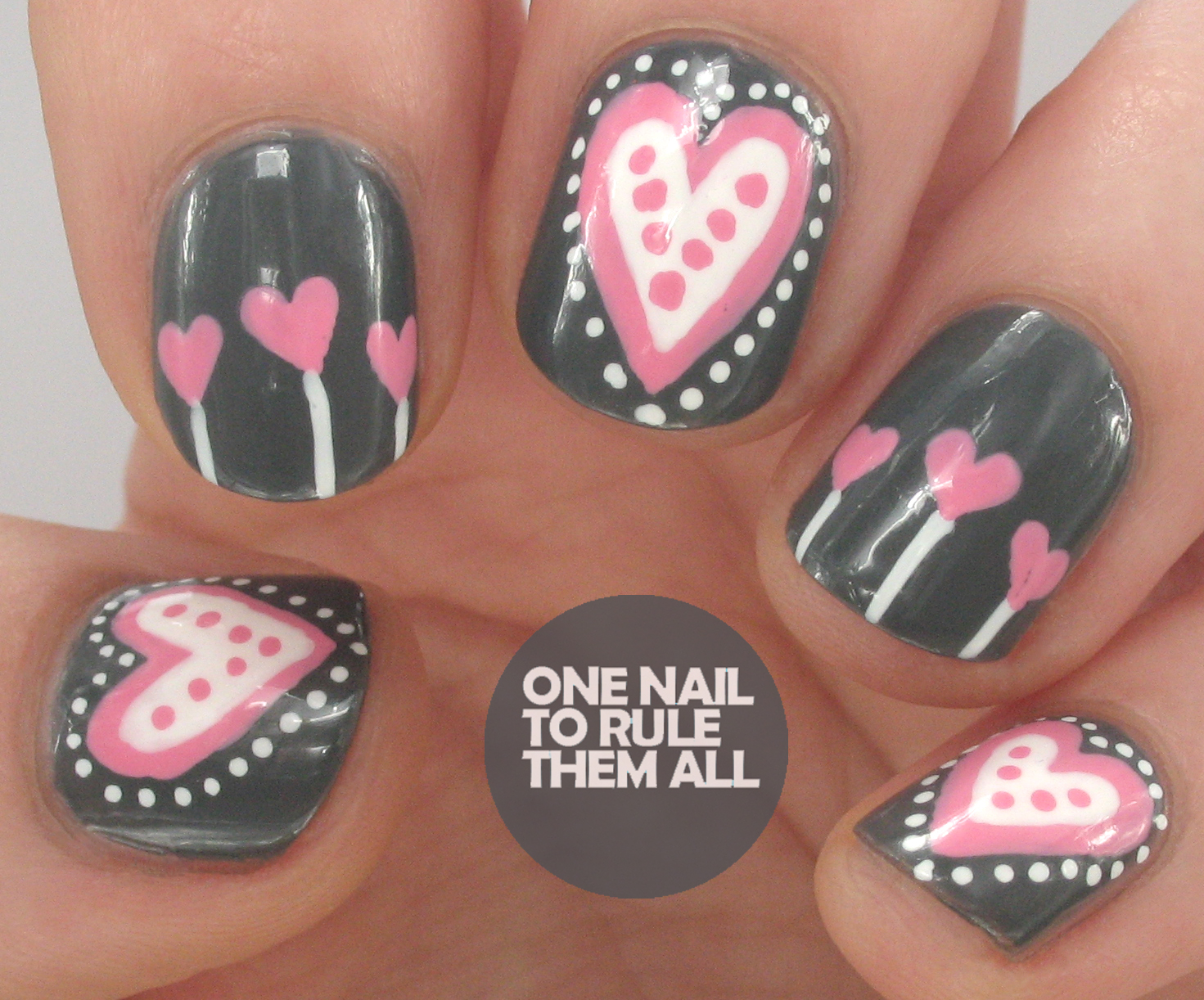 One Nail To Rule Them All Grey Hearts