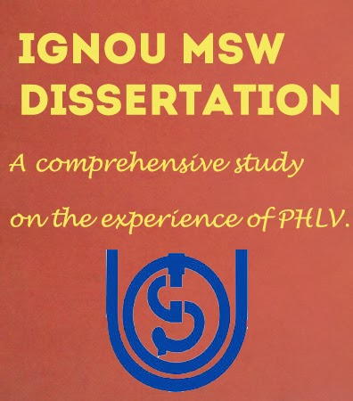 IGNOU MSW Dissertation Project Work
