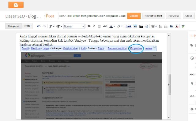 Tambahan Tool untuk SEO Blogspot/SEO Blogger untuk Gambar-Image
