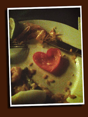 found a heart shaped pepper slice in last night's paella