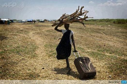 sud soudan près d'un camps de réfugiéEs