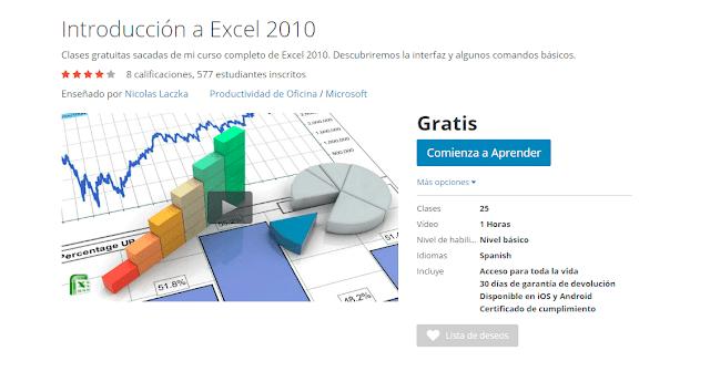 Curso Online Introducción a Excel 2010