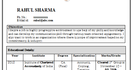 Best Resume Format For Freshers Accountant Psjds Limdns Org Example Of It Resume  Resume Samples