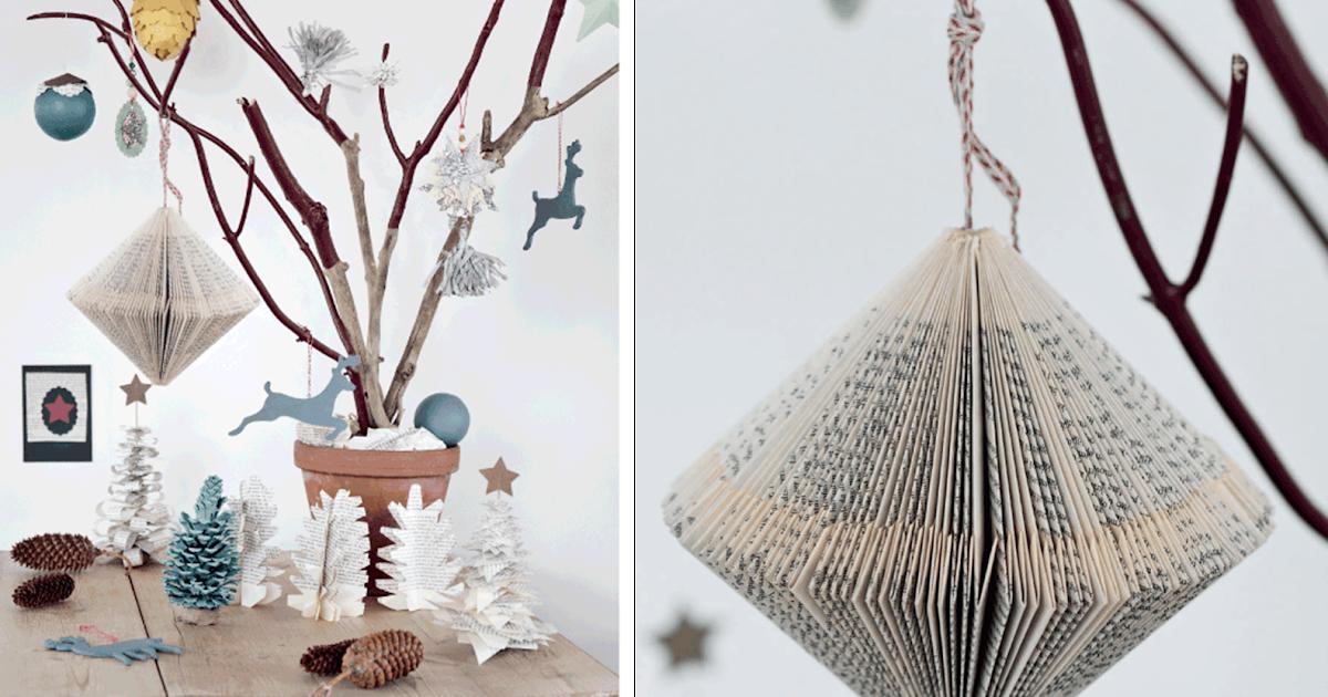 decoraci n f cil adornos de navidad reciclando papel