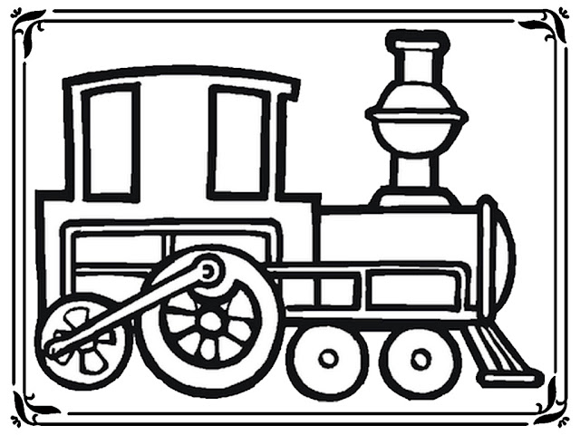 children's train coloring pages