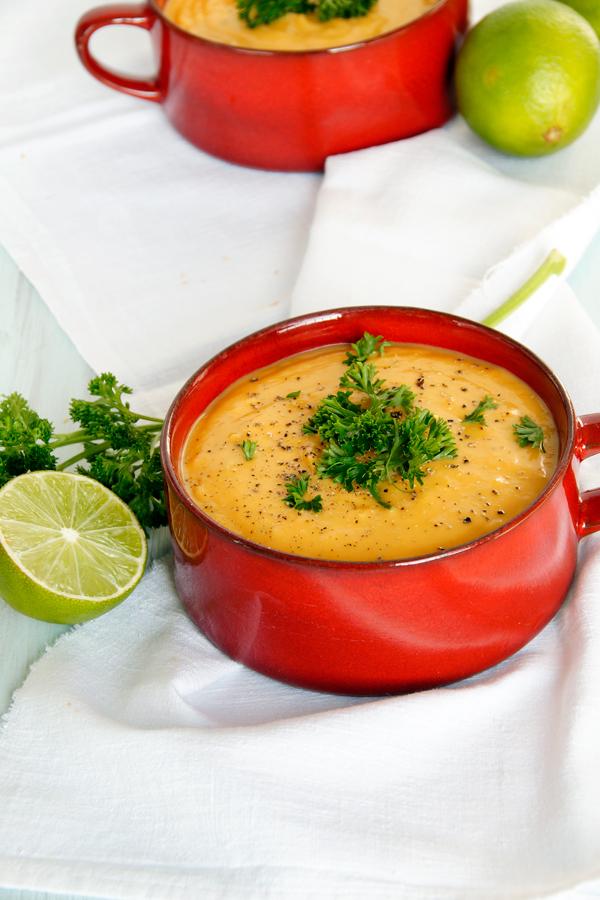 Süßkartoffel Suppe Rezept mit Limette spoonandkey