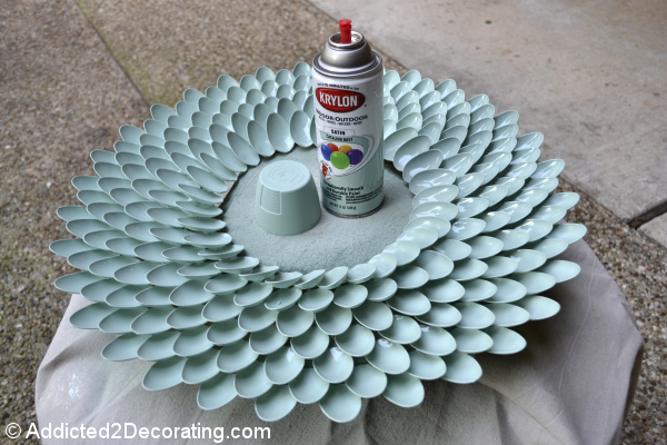 All in one reciclando cucharas de pl stico - Espejo de plastico ...