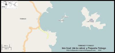 Isla Goat (de la cabra) y Pequeña Tobago, TRINIDAD Y TOBAGO, (OpenStreetMap)