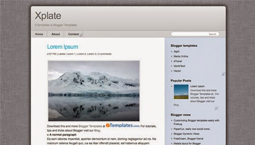Xplate - Free Blogger Template