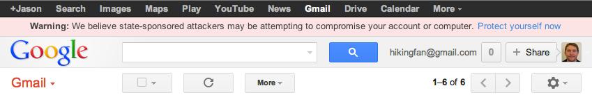 Google waarschuwing staatshackers