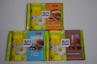 Ritter Sport Cookies & Cream, à la Crema catalana und Kakaosplitter