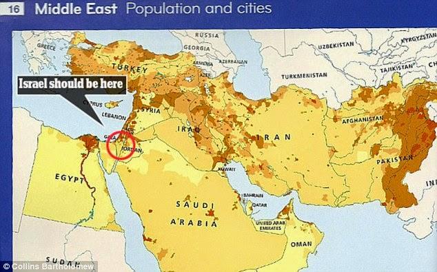 "HarperCollins: Atlas americano omite Israel do Oriente Médio por ""respeito aos muçulmanos"""