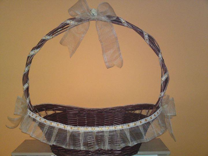 Como decorar una canasta para boda imagui - Como forrar una cesta de mimbre ...