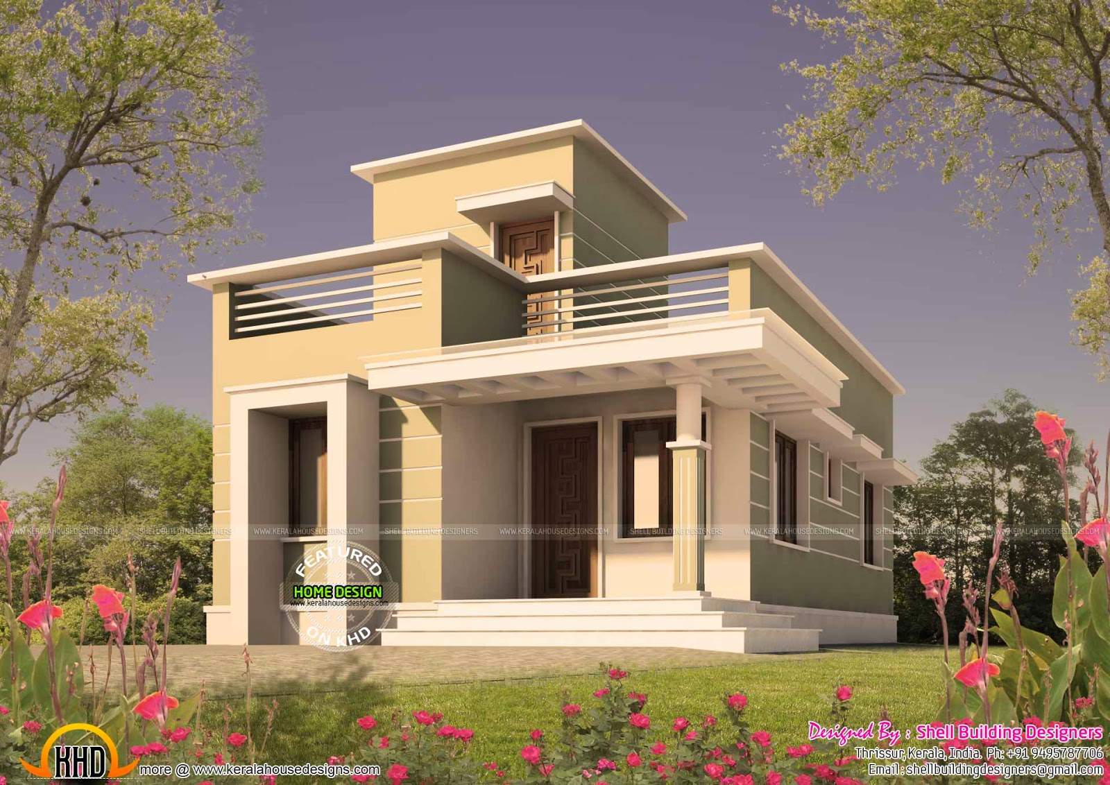 Small plot home - Kerala home design and floor plans