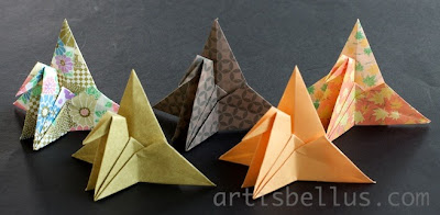 Origami Decorations: Crane Place Card Holder