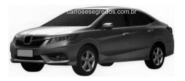 Honda registra patente da próxima geração do City