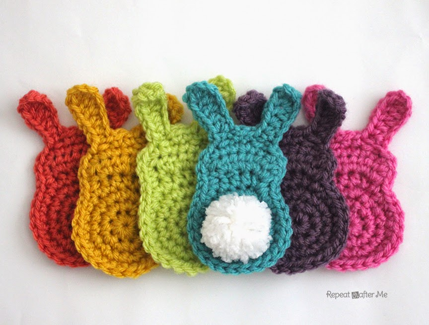 Repeat Crafter Me: Crochet Bunny Silhouette Appliques