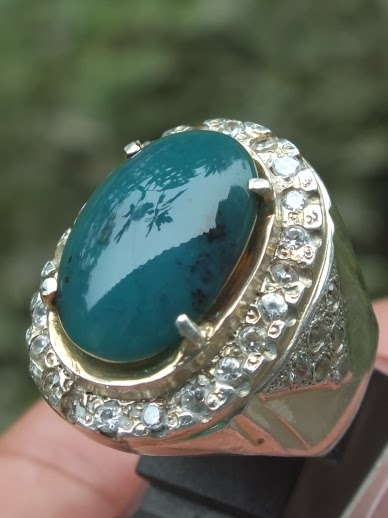natural chrysocolla chalcedony