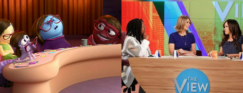 "Notice how the hosts of ""Inside Out"" and ""The View"" look the same?"