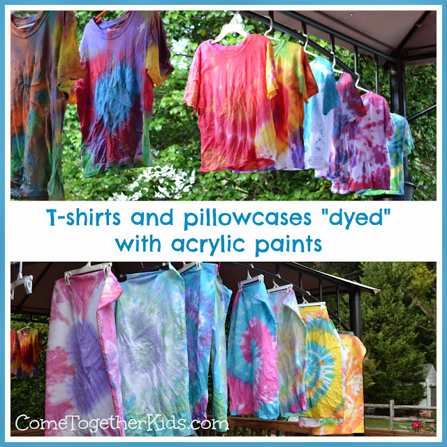 Tie Dye with Acrylic Paints - Come Together Kids