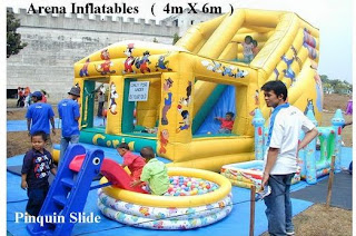 Arena Inflatables + Ballpool + Pinguin Slide