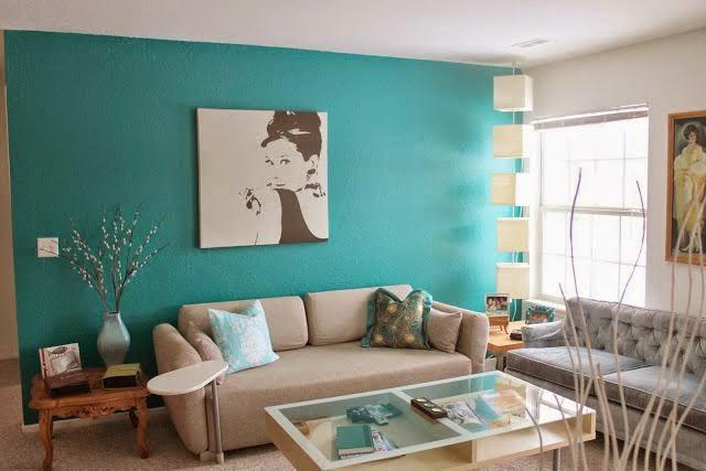 Sala De Estar Azul Turquesa ~ Sabendo usar os tons a decoração fica super charmosa, elegante e