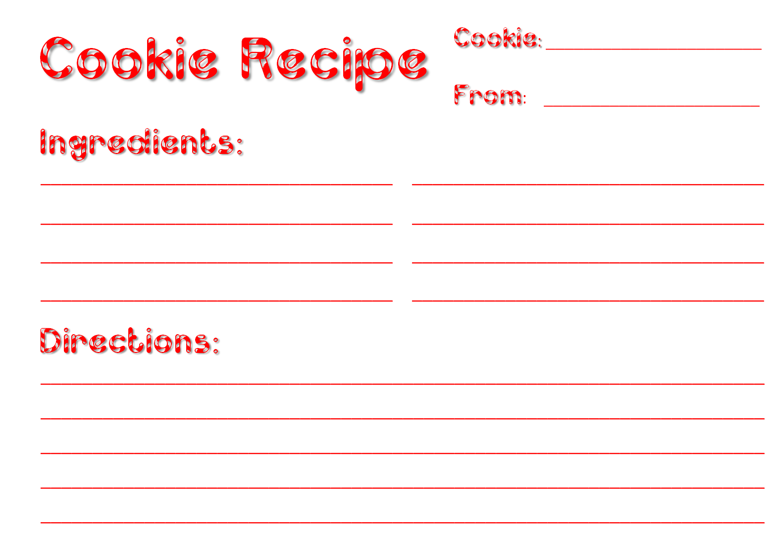 Alfa img - Showing u0026gt; Cookie Cookbook Template