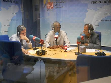 Entrevista en la Radio de la Universidad Miguel Hernandez, Elche. Martes 14 de junio de 2016.