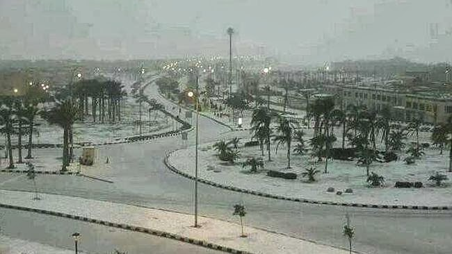 Snow Falls In Cairo For The First Time In More Than 100 Years