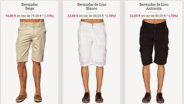 Bermudas para hombre en algodón o lino super baratas