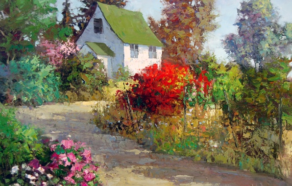 beautiful landscape oil paintings by Sean Wallis
