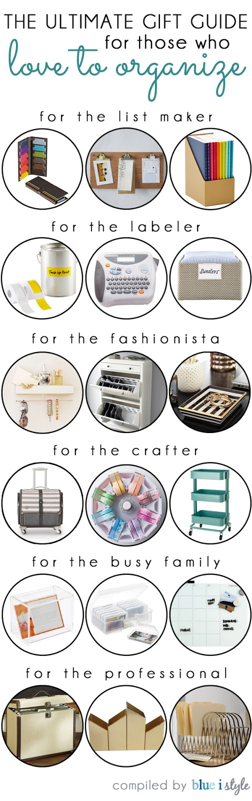 Gift ideas for those who love to organize