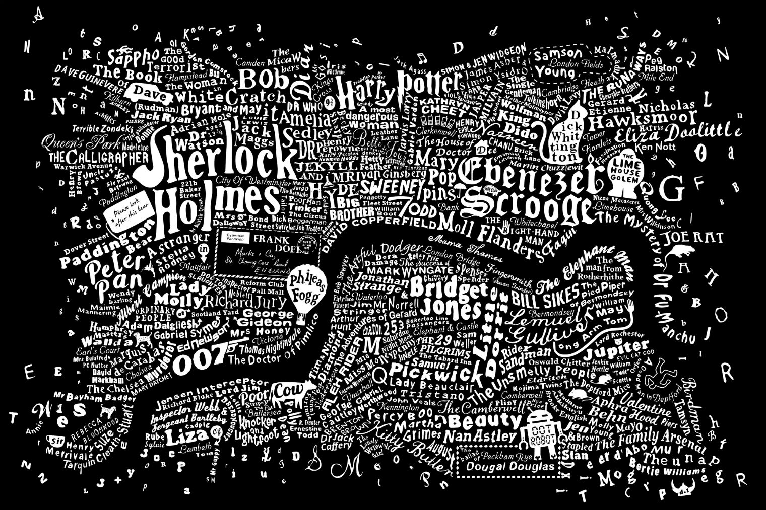 This Amazing Literary Map Of London Was Created By Graphic Artist Dex In Collaboration With Interior Designer Anna Burles Wow See The Large Version At