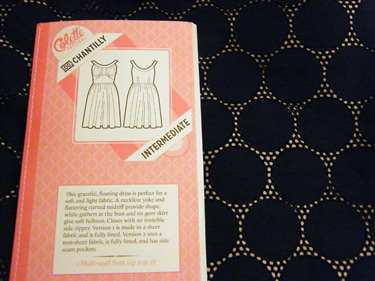 Chantilly Pattern and Fabric