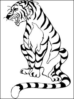 ausmalbilder tiger kostenlos