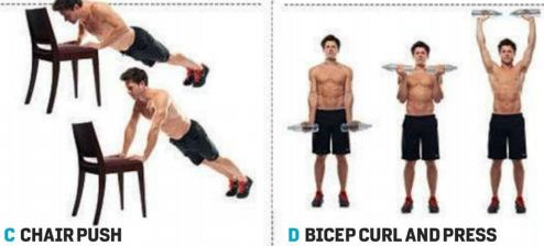 Bicep Curl and Press