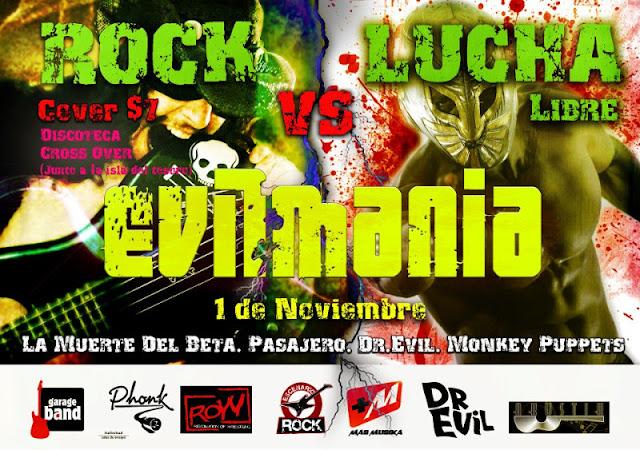 """ROW ECUADOR: Evilmania """"rock y lucha libre"""" 2"""