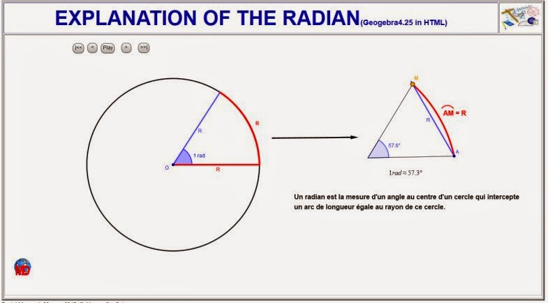 http://dmentrard.free.fr/GEOGEBRA/Maths/export4.25/Radiananim.html