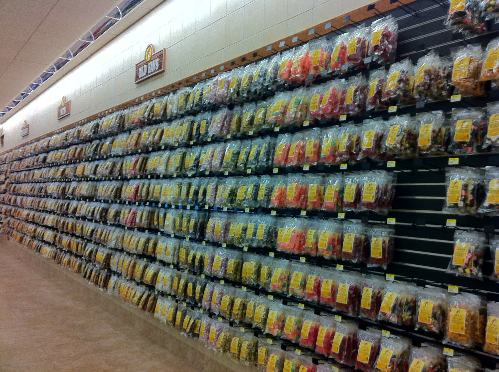 A wall dedicated to gummy candy. Jeannie s Obsessions  Buc ee s the best convenience store in the
